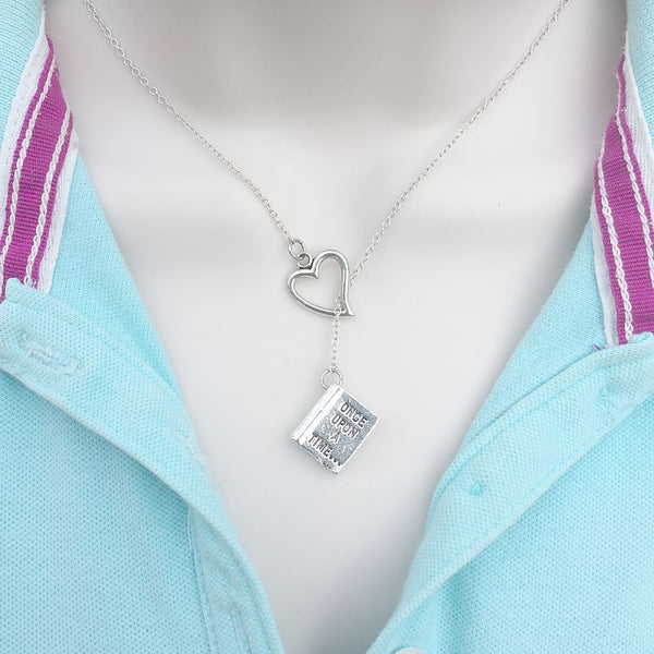 I Love OUAT Novel Silver Lariat Y Necklace.