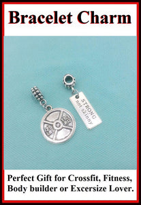 Beautiful Handcrafted Weight Plate Charms for Bracelet.