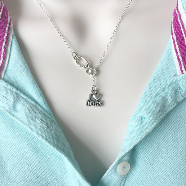 I Love Dogs, Animal Lover Vets Lariat Y Necklace.