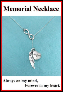 Beautiful Handcraft Daughter Guardian Angel Necklace Lariat Style.