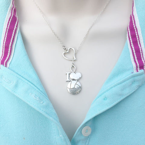 I Enjoy Soccer Silver Charms Lariat Necklace.