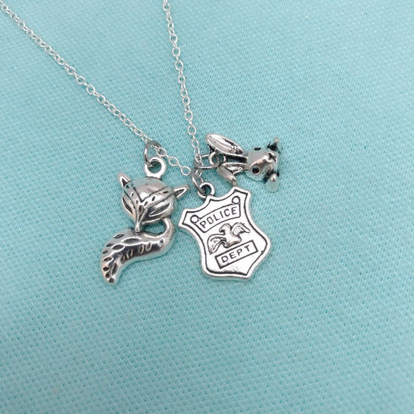 Zootopia Charms: Beautiful Cluster Charms Necklace.
