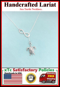 Beautiful SEA TURTLE Necklace Lariat Style.