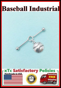 Baseball/Softball Charm Surgical Steel Industrial.