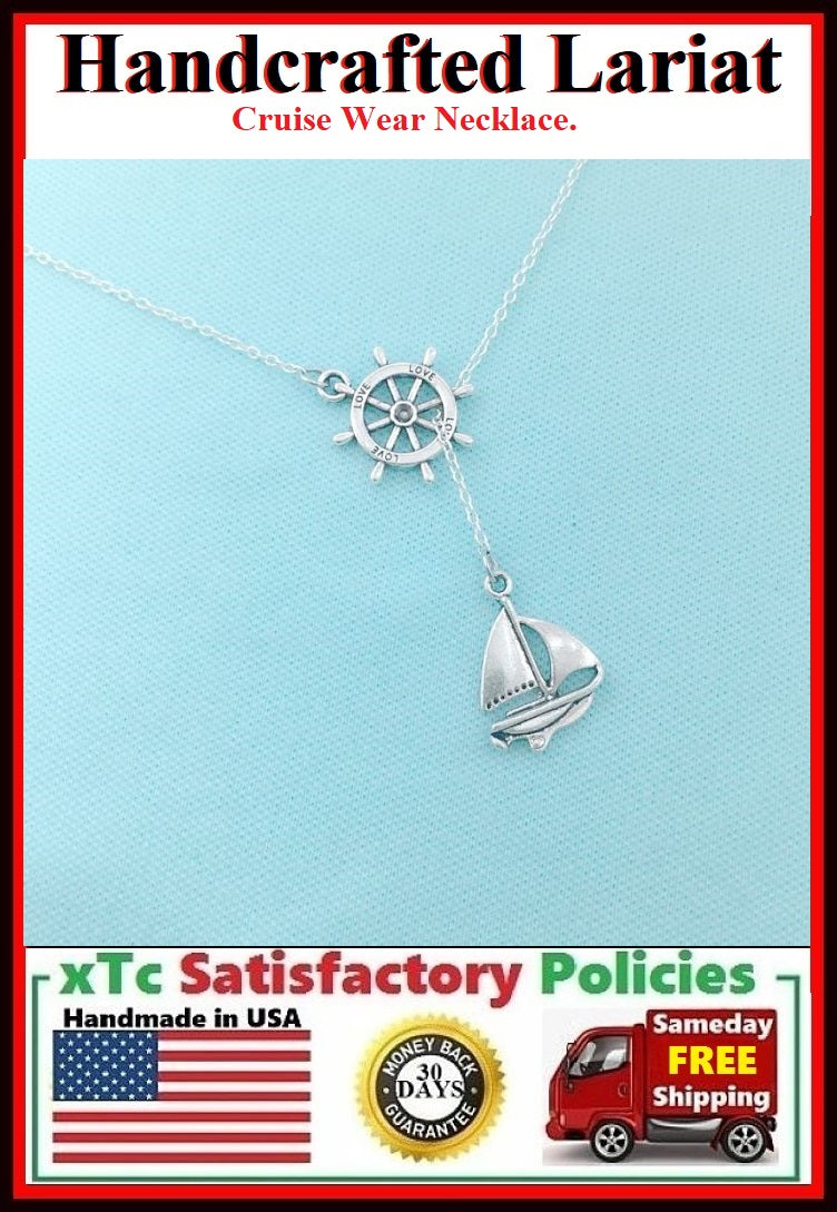 Modern n Trendy: BOAT n RUDDER Necklace Lariat Style.
