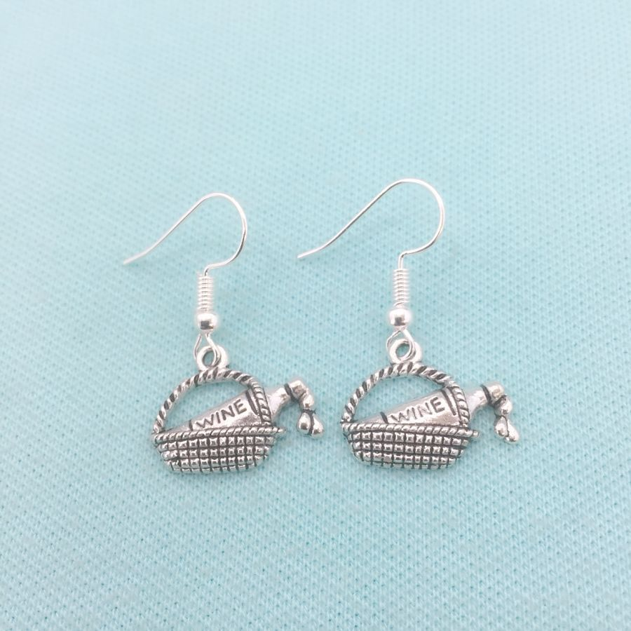 Beautiful Silver Charms Dangle Earrings.