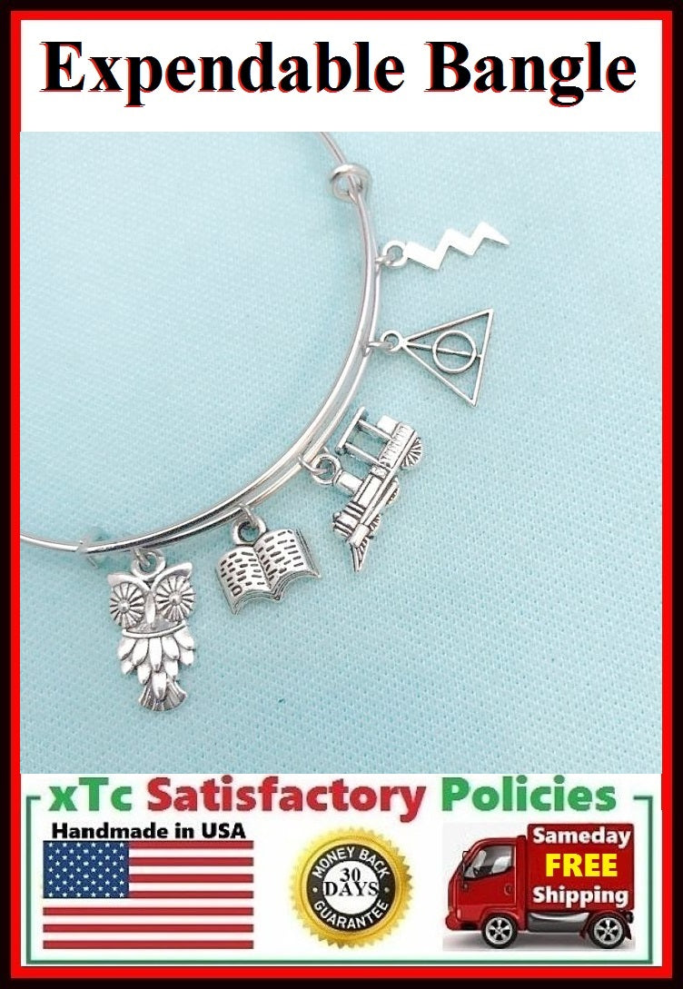 Harry Potter inspiration related Charms Bangle