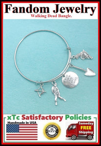 Zombie Killer and Quote Charms Expendable Bangle.