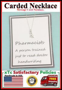 Pharmacist Gift; Handcrafted RX MEDICINE Charm Necklace.