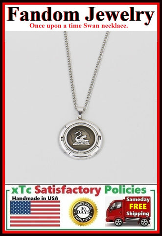 OUAT Swan Charm Silver Necklaces.
