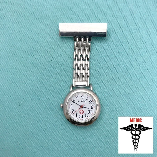 Medic or Nurse Quartz Clip On Watch.