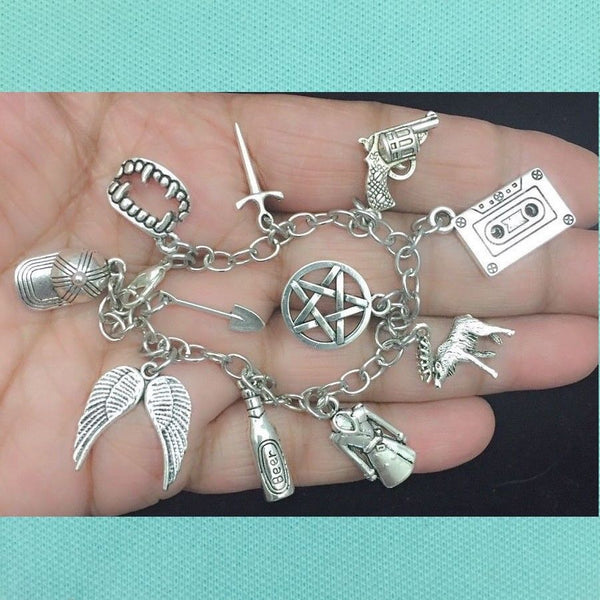 Gorgeous Supernatural Charms Stainless Steel Bracelet.