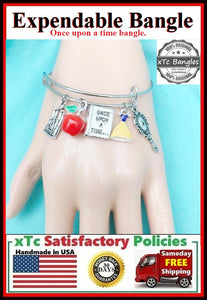 SNOW WHITE, 3D Color Charms Expendable Bangle.