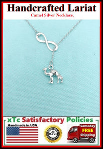 Beautiful 3D Camel Necklace Lariat Style.