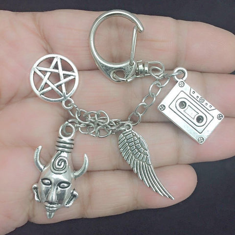 Supernatural Inspiration: Show related FOUR Charms Key Ring