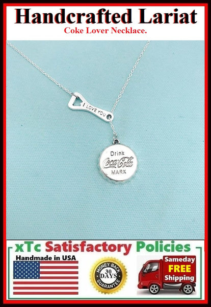 Coke Lovers Necklace Lariat Style.