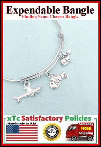 FINDING NEMO Inspiration Related Charms Bangle.