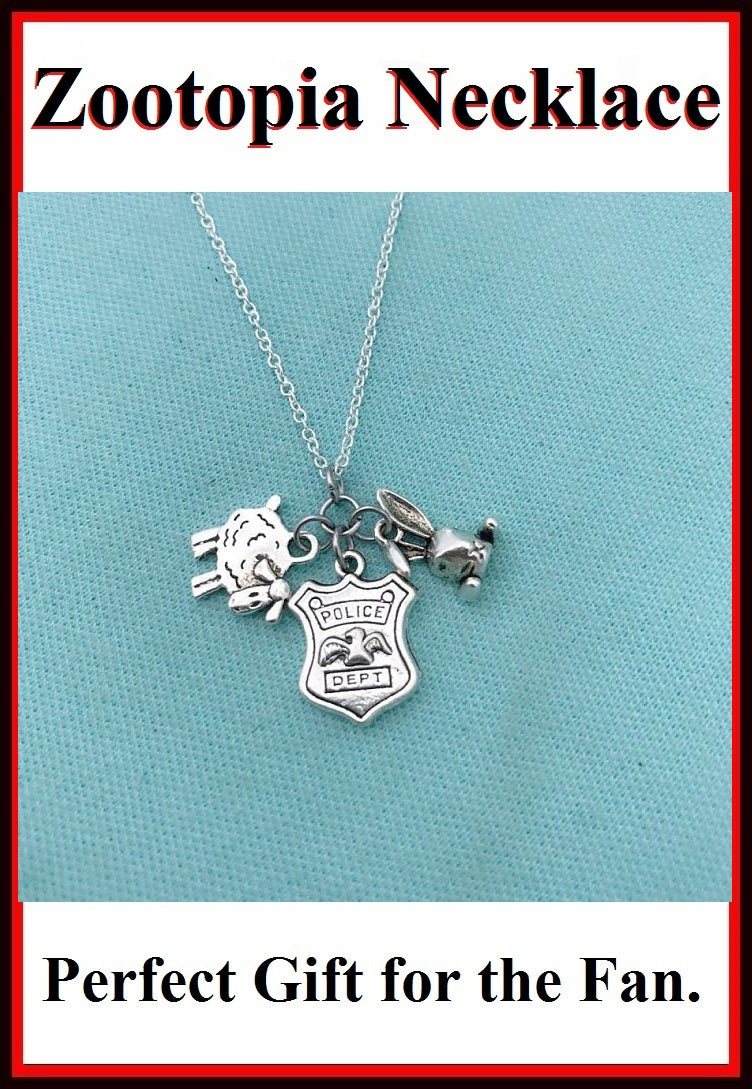Zootopia Charms: Gorgeous Cluster Charms Necklace.