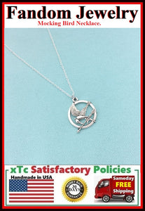 Mocking Bird Charm Silver Necklaces.