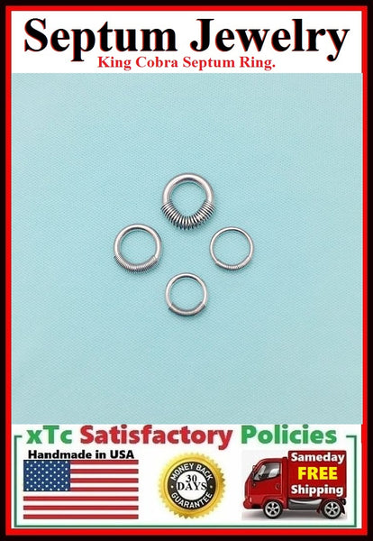 Sterilized Surgical Stainless Steel King Cobra Septum Rings.