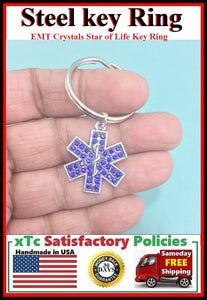 MODERN N TRENDY: EMT Crystals Star of Life Key Ring.