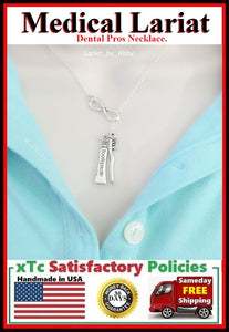 Tooth Paste and Tooth Brush Handcrafted Necklace Lariat Style.