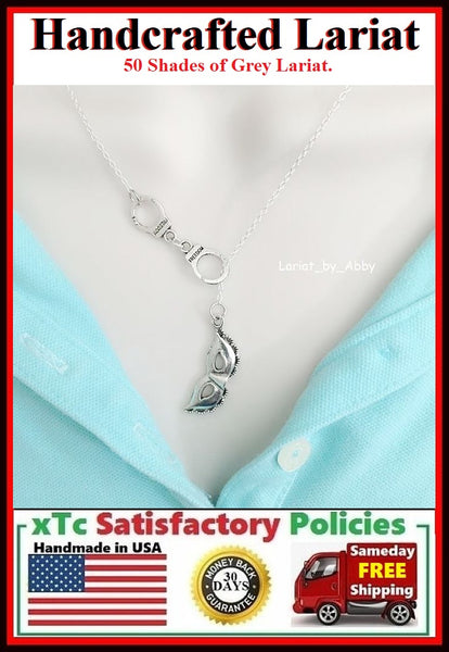 Tie Christian Grey Anastasia Beautiful Mask Lariat Necklace.