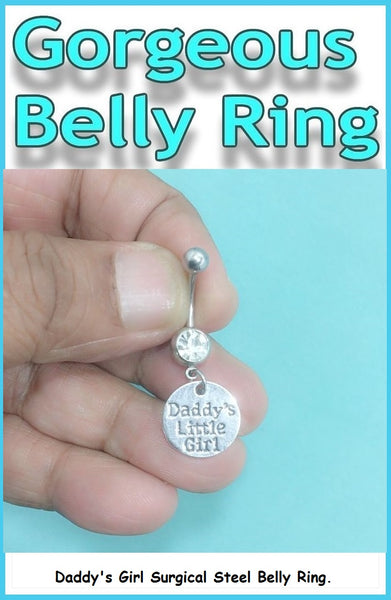 DADDY's GIRL Surgical Steel Handmade Belly Ring