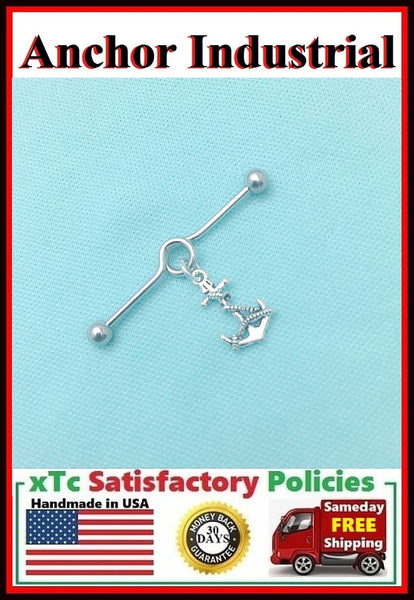Beautiful Anchor Charm Surgical Steel Industrial.
