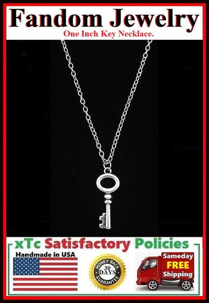 OUAT Mary Margaret Blanchard Key Charm Silver Necklaces.