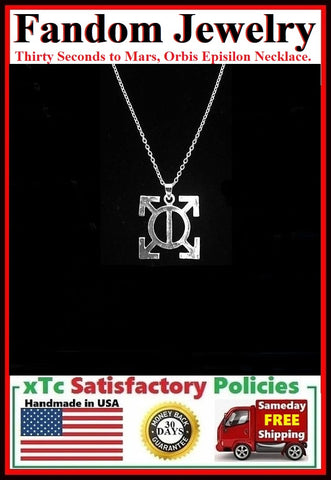 Thirty Seconds to Mars, Orbis Episilon Charm Silver Necklaces.