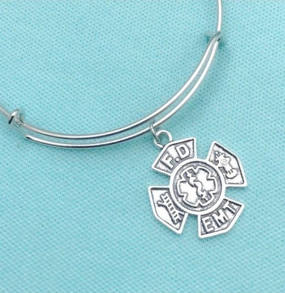 Handcrafted FD & EMT Charms Bangle.