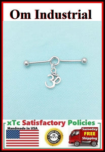 Beautiful Om Symbol Charm Surgical Steel Industrial.