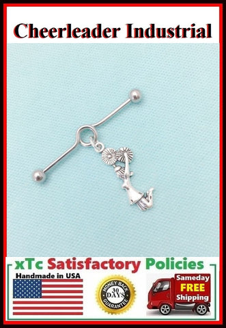 Beautiful Cheerleader Charm Surgical Steel Industrial.