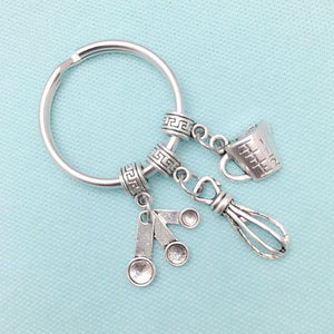 Perfect for Cook, Baker, Chef, Mom Charms Key Ring.