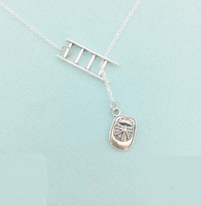 Beautiful FIREFIGHTERS Silver Lariat Necklace.