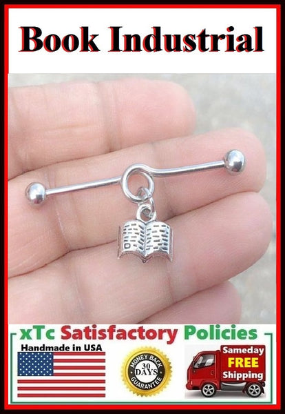 Open Book Charm Surgical Steel Industrial.