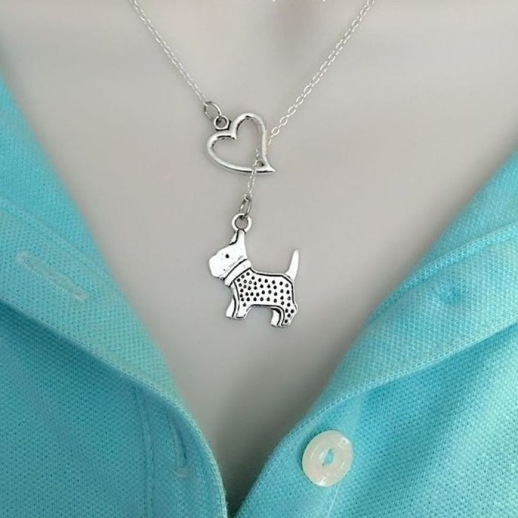 I Heart My Toy Poodle Dog Handcrafted Necklace Lariat Style.