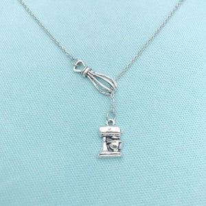 Baker, Cook, Chef, Mom Mixers Charms Necklace Lariat Style.