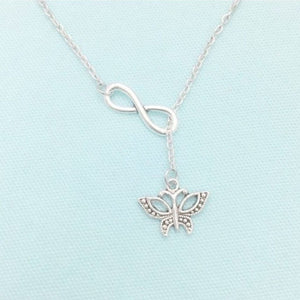 Handcrafted Beautiful Butterfly Necklace Lariat Style.
