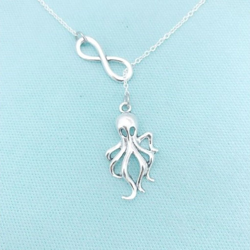 MODERN n TRENDY; Octopus Necklace Lariat Style.
