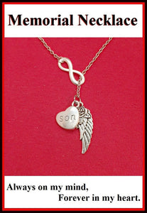 Beautiful Handcraft Son Guardian Angel Necklace Lariat Style.