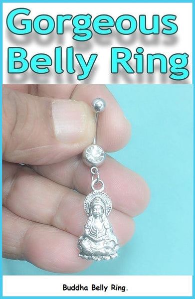 Buddha Surgical Steel Handmade Belly Ring