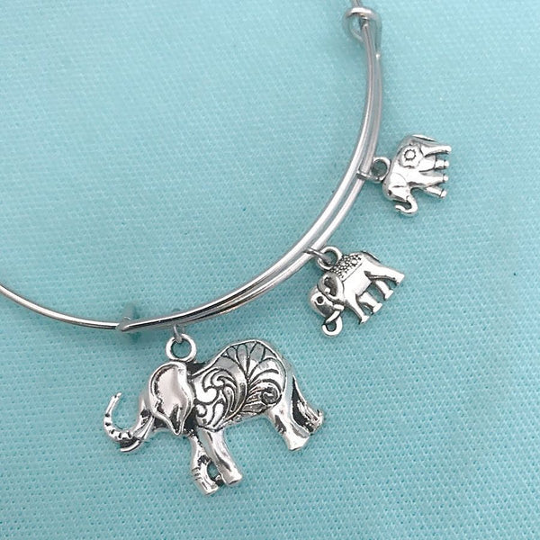 Elephants Parade: Mom & Babies Elephants Charms Bangle