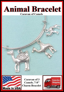 Caravan of Camels  Handcrafted Expendable Bangle Bracelet.