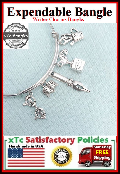 WRITER Theme related Charms Expendable Bangle