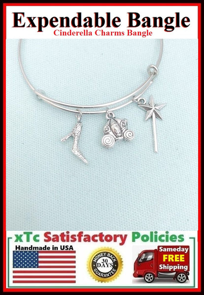 "Bangle Inspiration ""CINDERELLA"" Theme Charms"