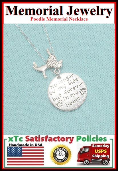 Handcrafted POODLE Memorial Charms Necklace.
