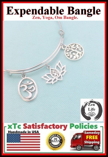 Stunning Zen Theme Charms Bangle.