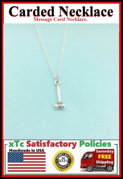 Judge, Attorney Gift ; Handcrafted Silver GAVEL Charm Necklace.